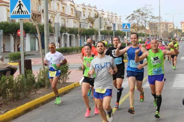 Corredores de la pasada edición de la Media Maratón Ciudad de las Hortalizas.