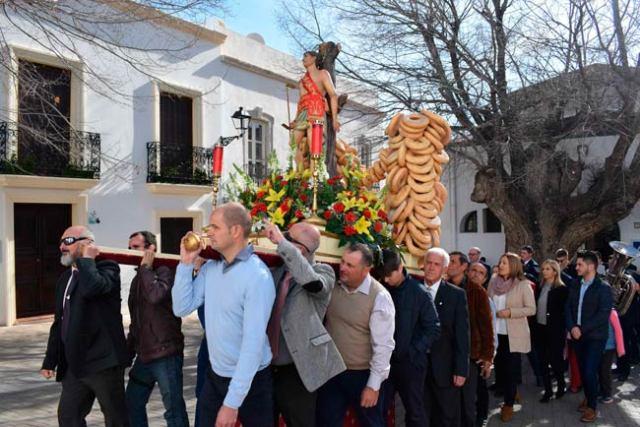 Procesión en honor a San Sebastián en Níjar.