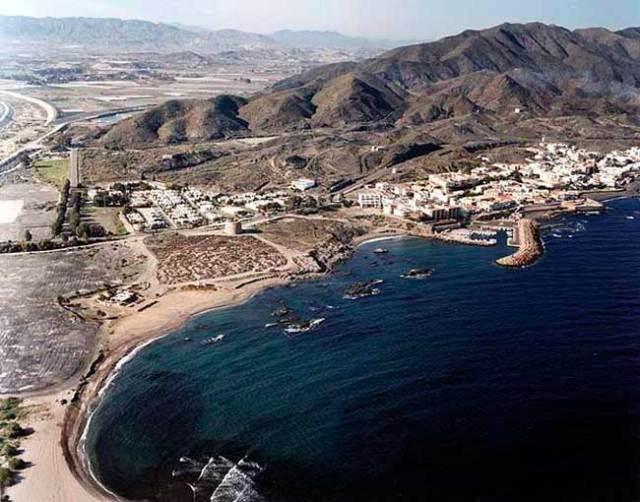 Imagen aérea de la actual Villaricos.
