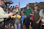 La Junta y alumnado de Pulpí libran un búho real y un águila ratonera