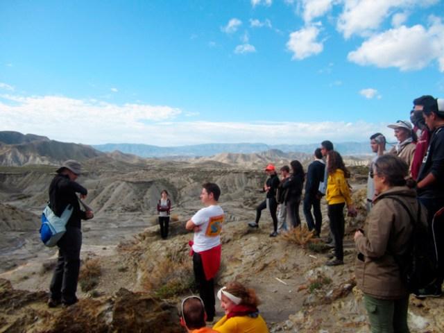 Participantes del proyecto Ecocampus en el Desierto de Tabernas.