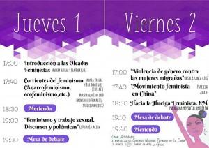Programa de las III Jornadas Histórico-Feministas