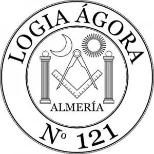 Sello de la Logía Ágora 121, de Almería, adscrita a la Gran Logia de España