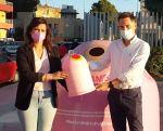 Huércal y Benahadux cuentan con contenedores rosa para el reciclaje de vidrio para concienciar sobre el cáncer de mama
