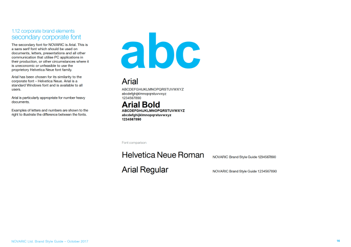 Corporate brand elements secondary corporate font