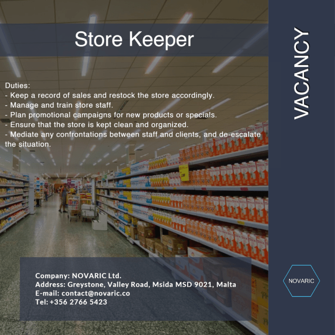 Store Keeper 1