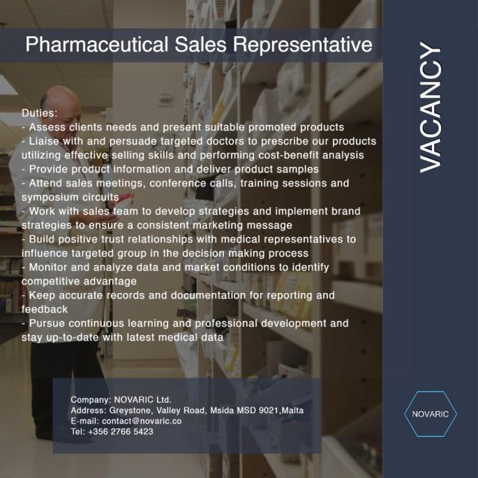 Pharmaceutical Sales Represantive