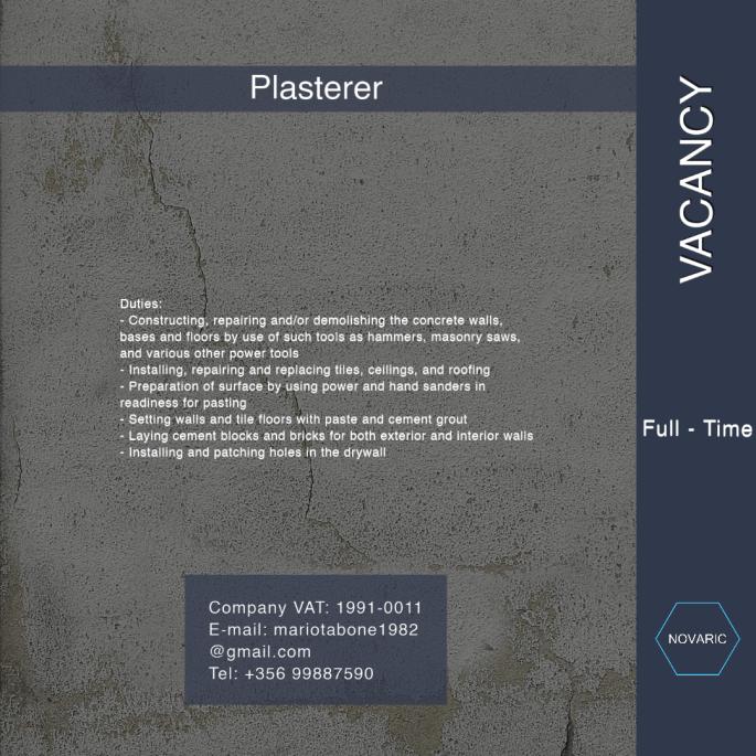 Plasterer