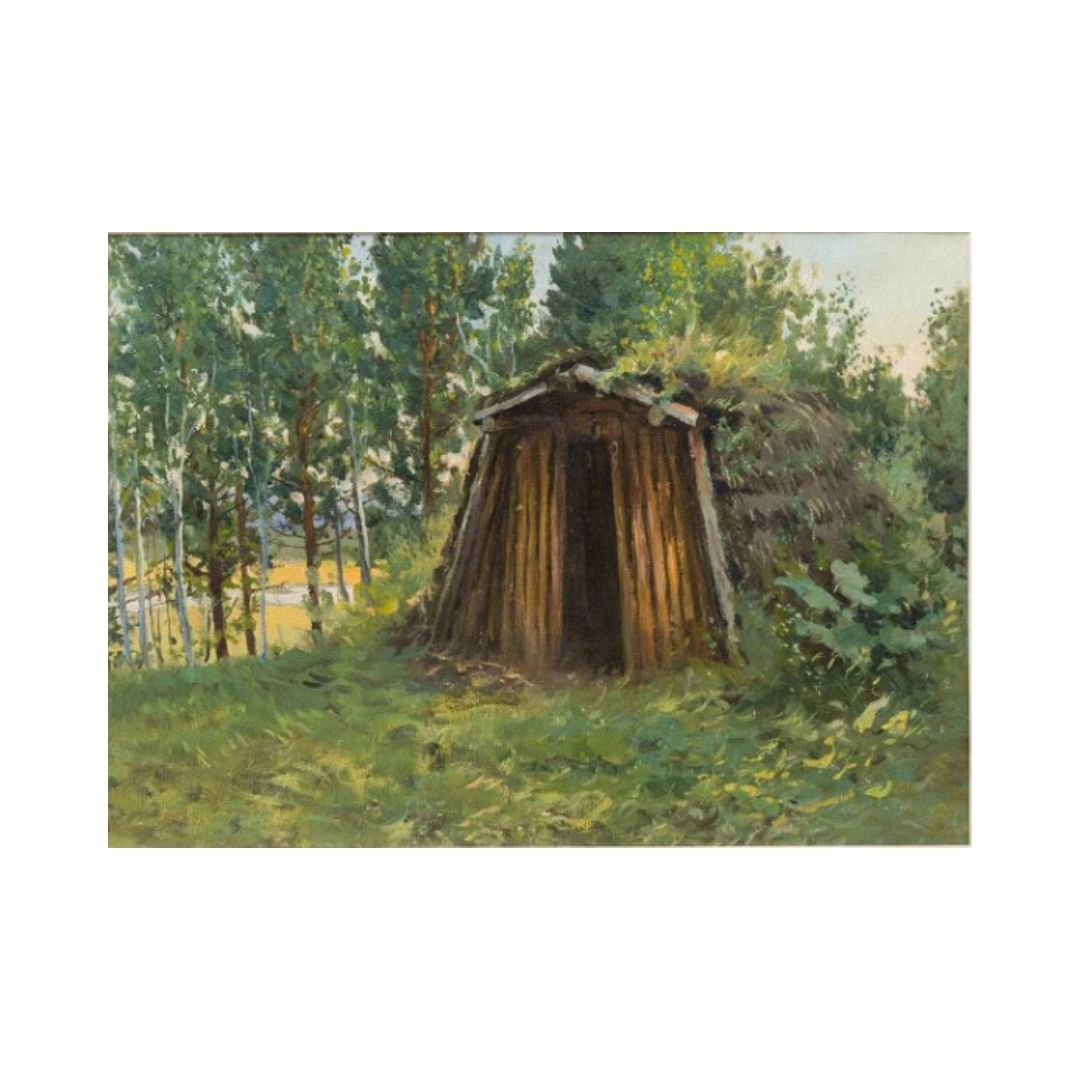Ganzhinskij kartina «SHalash bliz ozera Perovo»