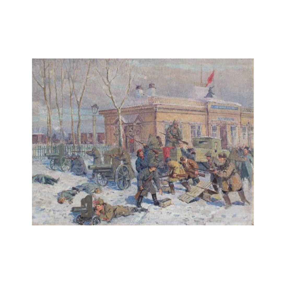 Ganzhinskij kartina Kartina Vzyatie Novonikolaevska