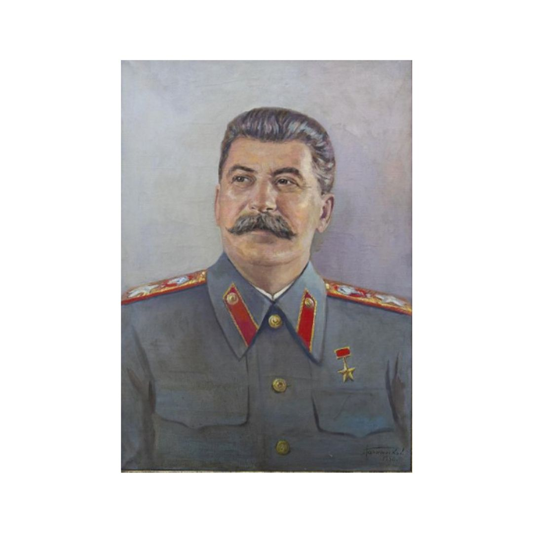 Kartina Portret I.V.Stalina hudozhnik Ganzhinskij