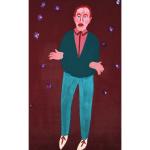 Kartina portret muzhchina korichnevyj fon Pozdeev