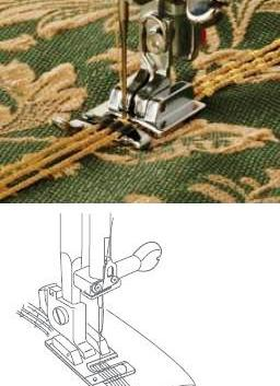 3-WAY CORDING FOOT FOR CATEGORY Top loading  PART NO 200345006