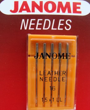 LEATHER NEEDLE 15X1LL SIZE 16 (5 PER PACKET)