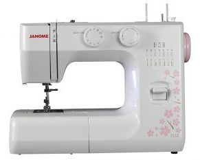 Janome 2112 Cherry Blossom Easy-to-Use Sewing Machine with 12 Stitches