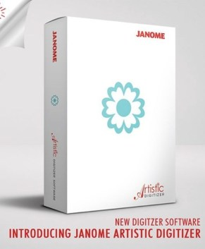 Janome Artistic Digitizer - PC and MAC compatible