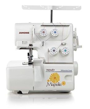 Janome 7034D serger - 3 + 4 thread with built in rolled hem