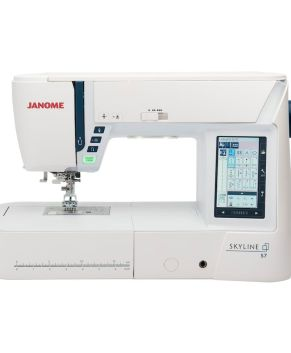JANOME S7 Indigo  -  NEW - Pre-order - Stock arrives Late NOV 2020