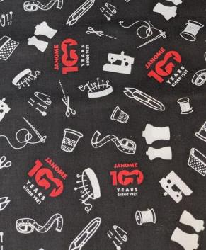 JANOME Limited Edition Fabric Black  - price per yard