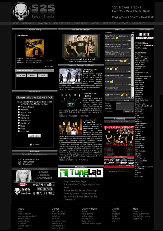 Music Website Design Music Websites For Radio Musicians