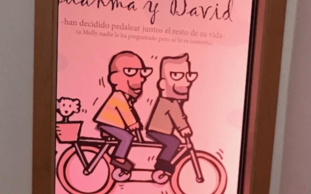 David y Juanma celebran el «Sí Quiero» en la intimidad de su casa