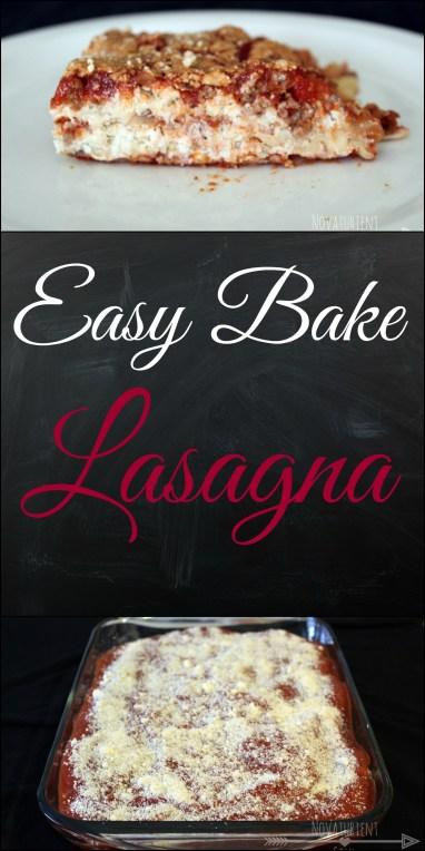 Easy to make & bake lasagna! No need to pre-boil the noodles! - NovaturientSoul.com