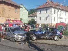 Accident pe strada 1 Decembrie din Mediaș