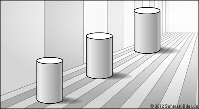 perspektivische tauschung 3 Zylinder