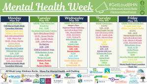 Mental Health Week Calendar - IMAGE