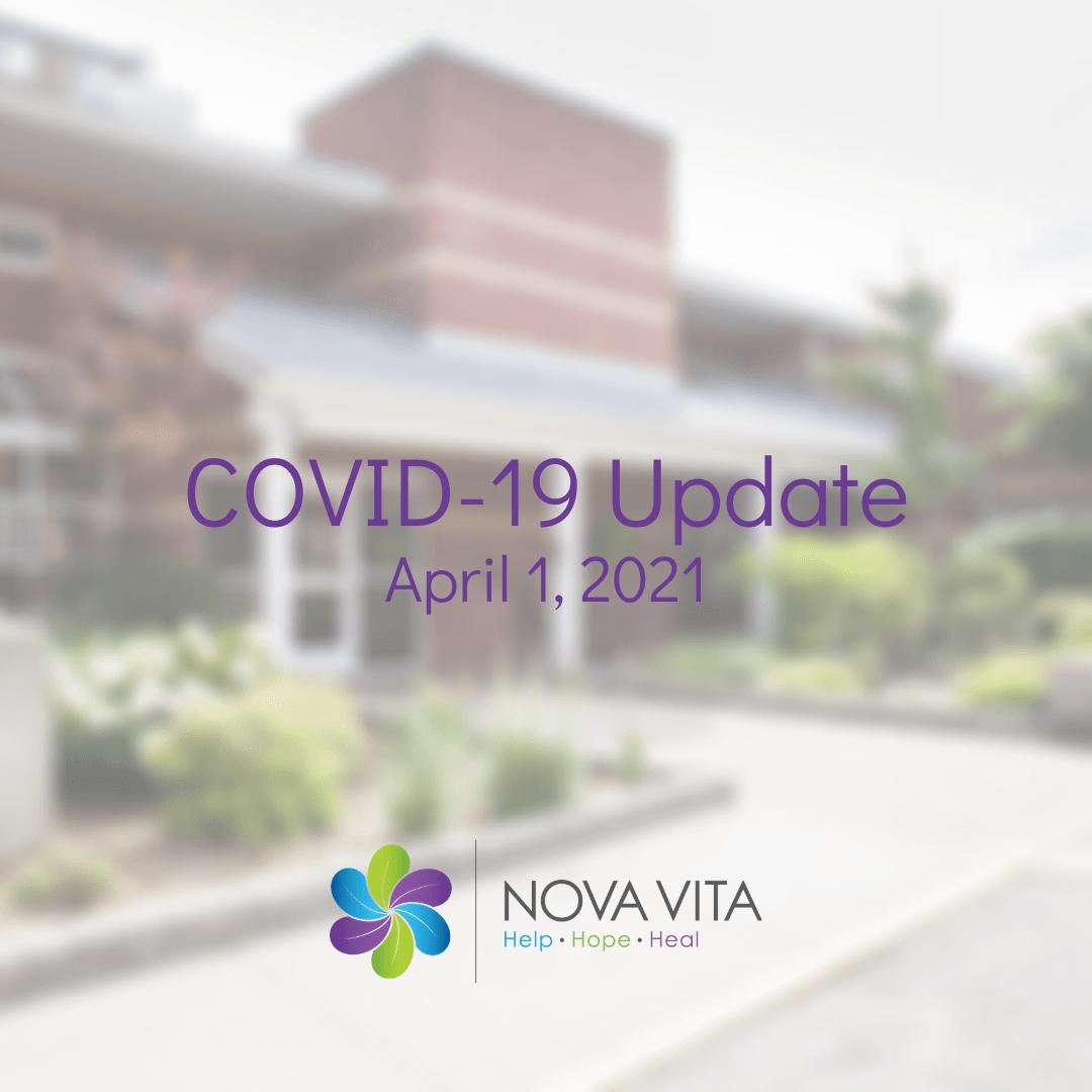 COVID-19 Update April 1, 2021