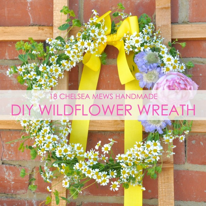 DIY wildflower wreath.www.18chelseamews.com