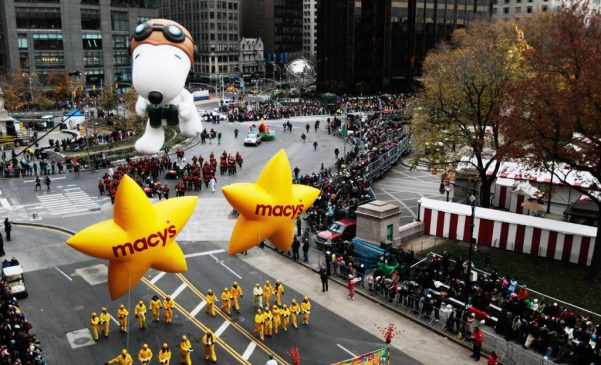 Macy's Thanksgiving Day Parade Winds Through New York City