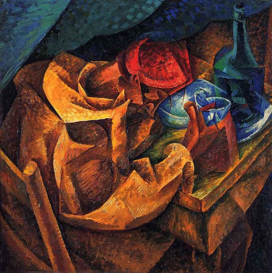"""Umberto Boccioni, """"Il bevitore"""", 1914"""