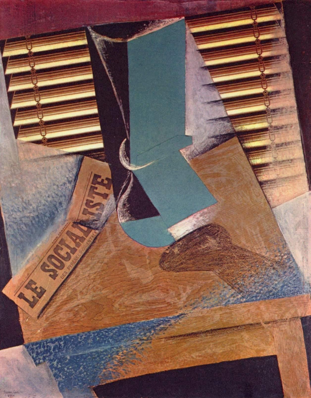 """Juan Gris, """"La tenda del sole"""", 1914"""