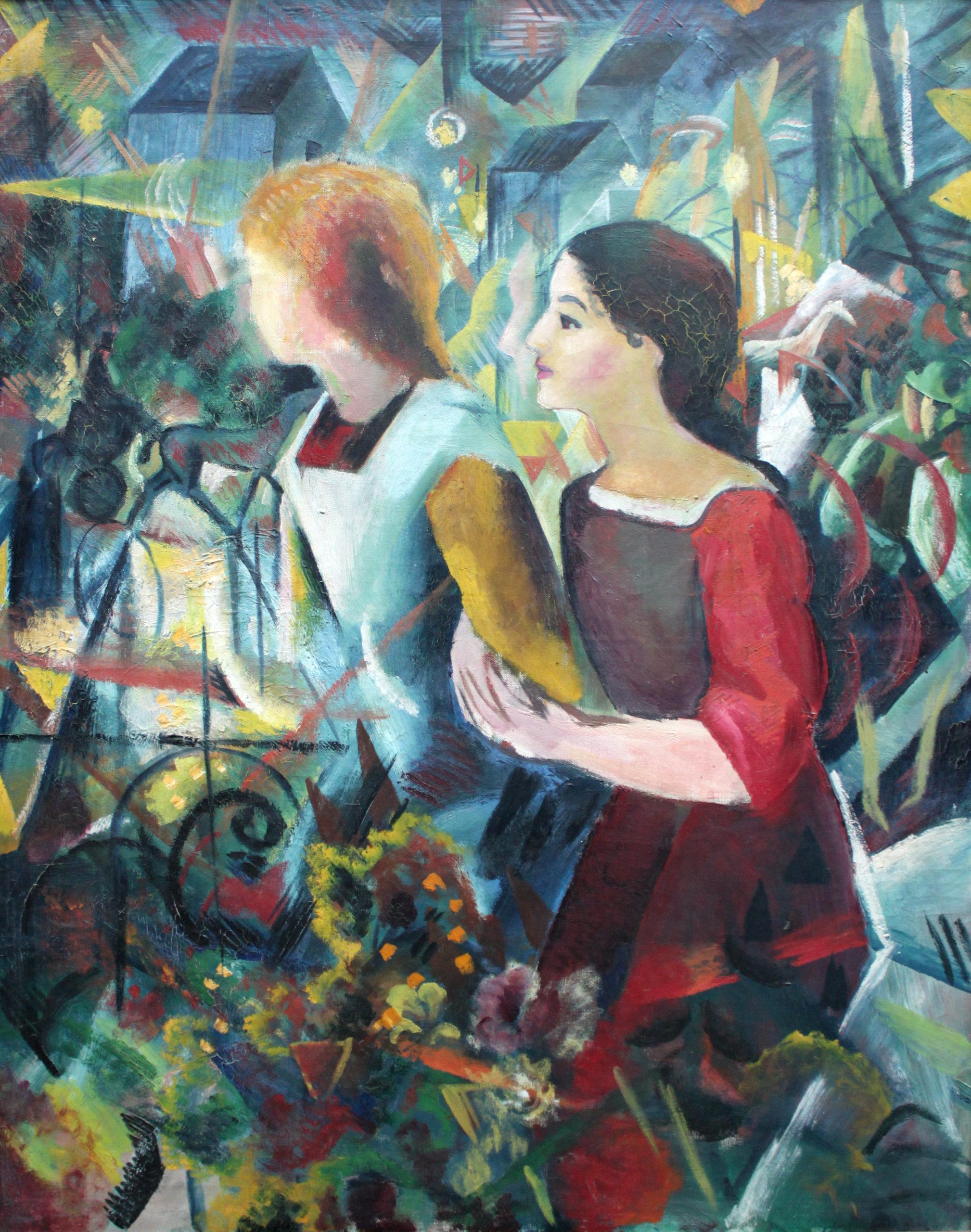 """August Macke, """"Due ragazze"""", 1913"""