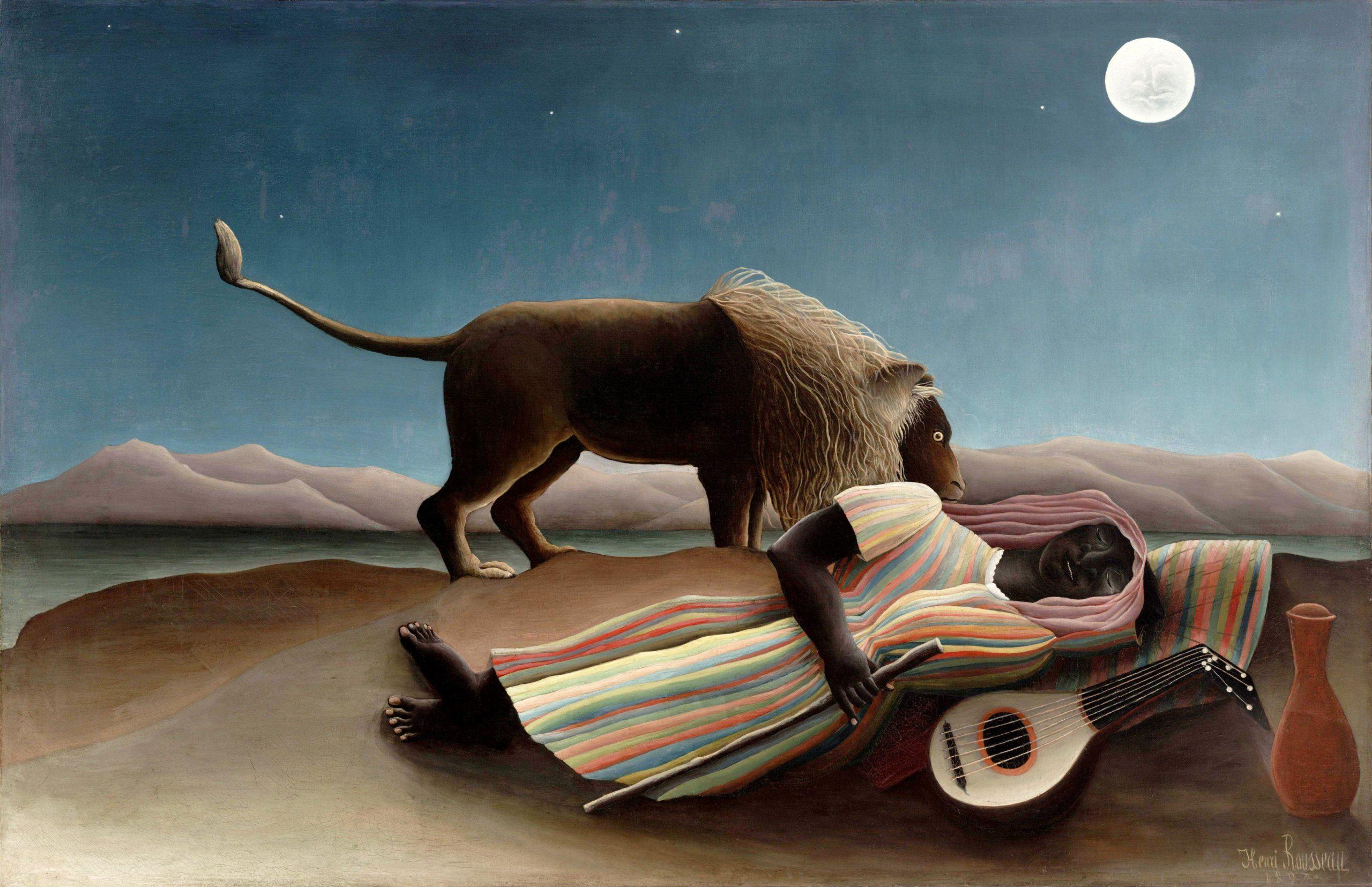 """Henri Rousseau, """"Zingara addormentata"""", 1897"""