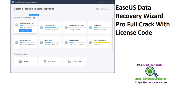 EaseUS Data Recovery Wizard Pro Full Crack With License Code