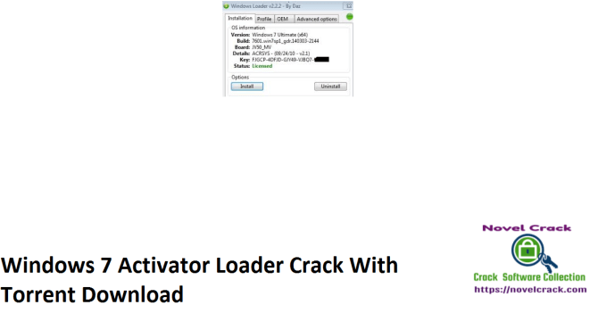 Windows 7 Activator Loader Crack With Torrent Download