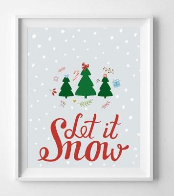 cuadro 3, decoración navideña