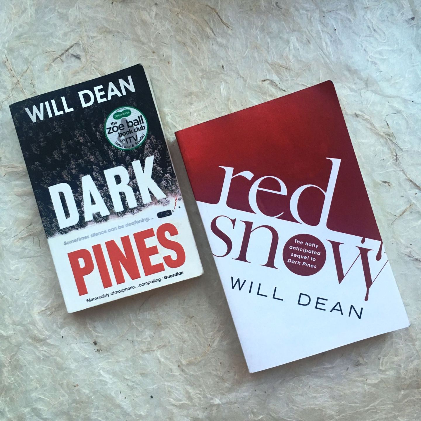 Dark Pines and Red Snow by Will Dean