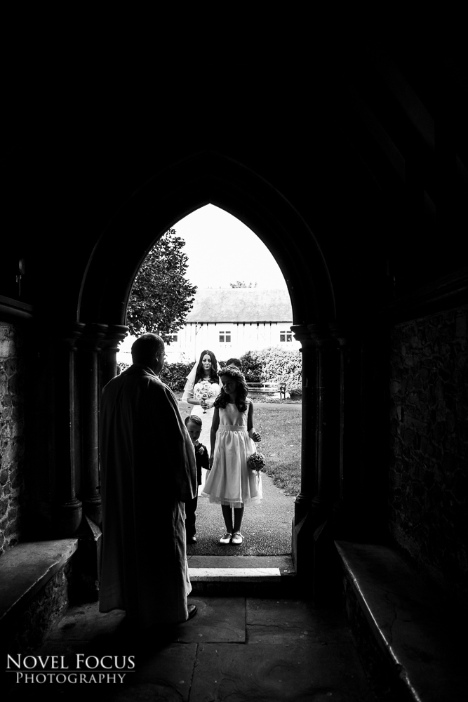 bride outside church
