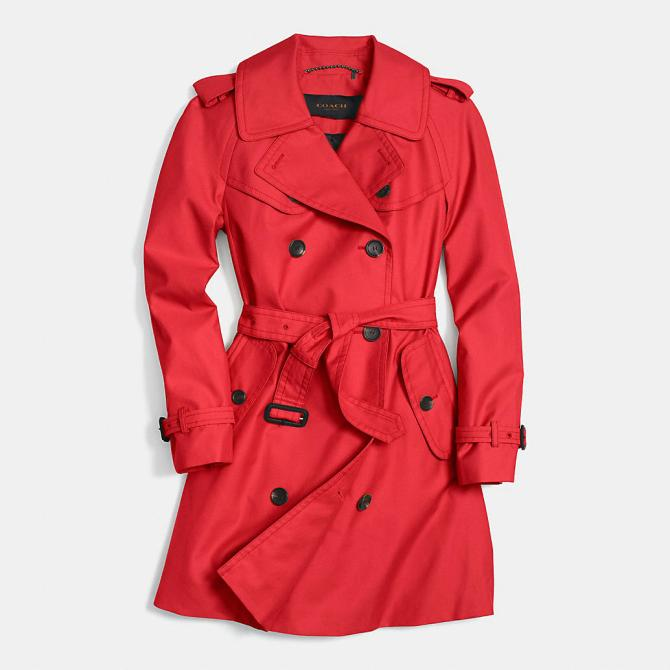 Coach-Red-Trench-Coat