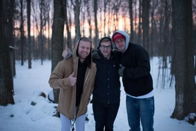 Jesse Storey, James van der Woerd and Mark Butterworth