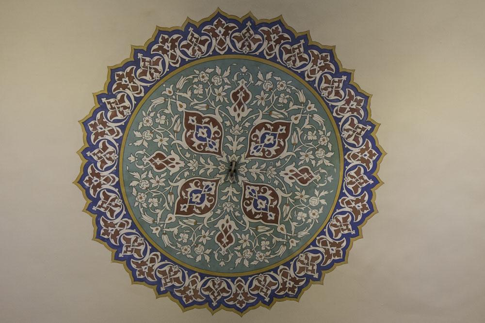 Decorative painting, Topkapi Palace, Istanbul, Turkey
