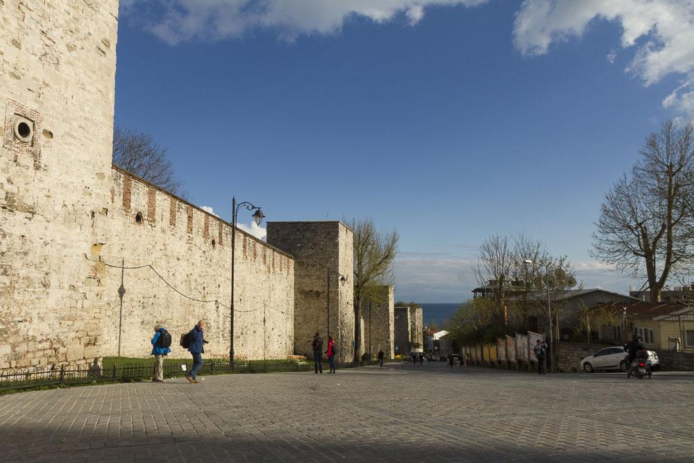 The wall surrounding Topkapi Palace.