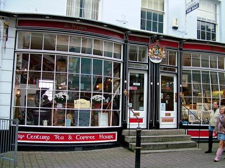 De Wynn's, Falmouth. Claim to Brittain's best tearoom...