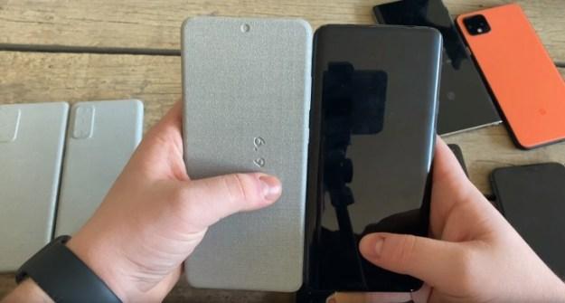 Samsung Galaxy S20 Ultra dummie vs. OnePlus 7 Pro