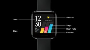 Realme Watch display information