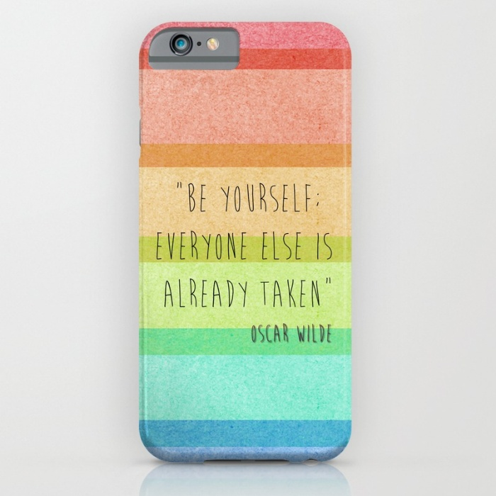 Oscar Wilde Quote iPhone Case