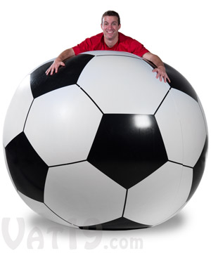 A huge six-foot diameter soccer ball